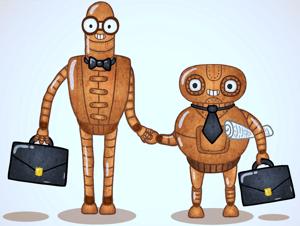 Chatbots trabajando