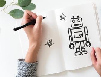chatbot y elearning draw