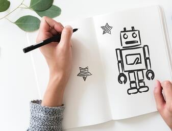 chatbot y elearning draw