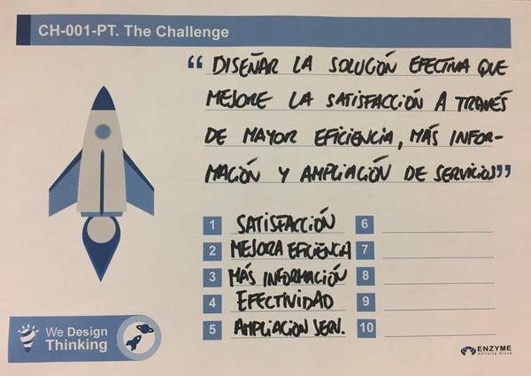 ejemplos design thinking el reto